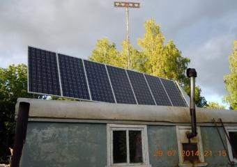 Солнечная электростанция GreenTok для охотничьего хозяйства Республика Башкортостан д.Ташлы.
