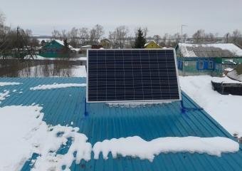 Солнечная электростанция на 1,2 кВт в день. Республика Башкортостан. д.Япупова, Кушнаренковский район.